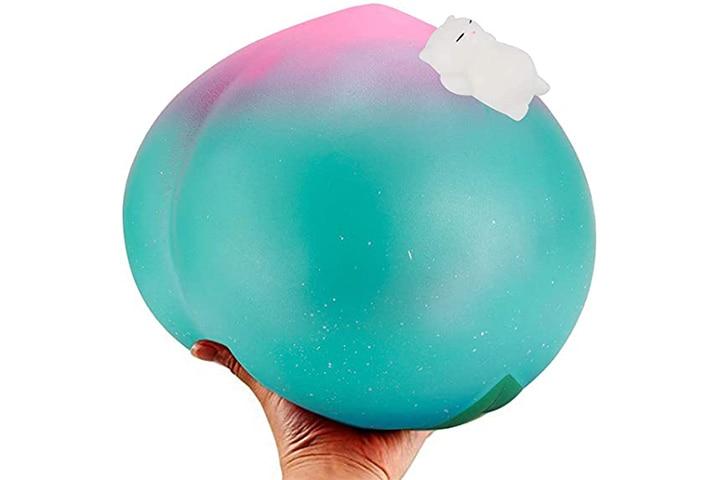 BeYumi 10 Inch Jumbo Galaxy Peach Squishy