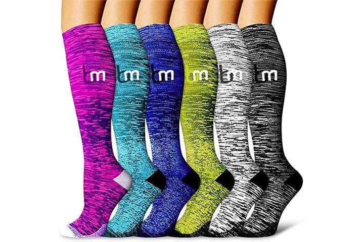 Bluemaple Copper Compression Socks