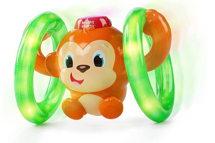 Bright Starts Roll & Glow Monkey Toy