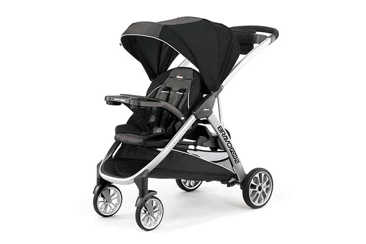 Chicco Bravo For 2 StandingSitting Double Stroller