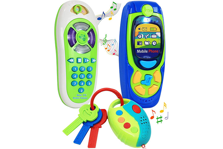 Click N' Play Cell Phone TV Remote & Car Key Accessory Playset