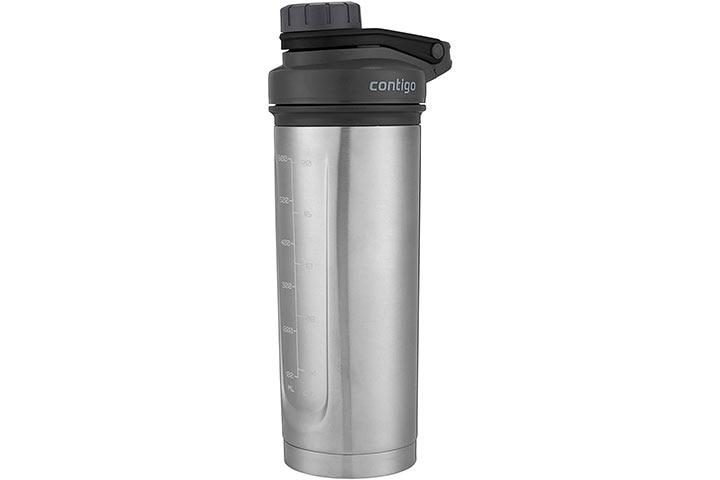 Contigo Shake & Go Fit Thermalock Vacuum-Insulated Stainless Steel Shaker Bottle