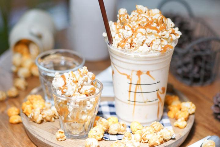 Corn-caramel milkshakes