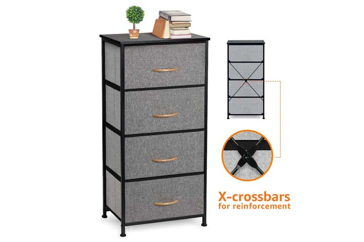 Cosyland 4 Drawer Dresser Storage Tower
