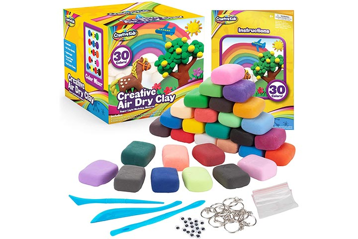 Creative Kids Air Dry Clay Modeling Crafts Kit
