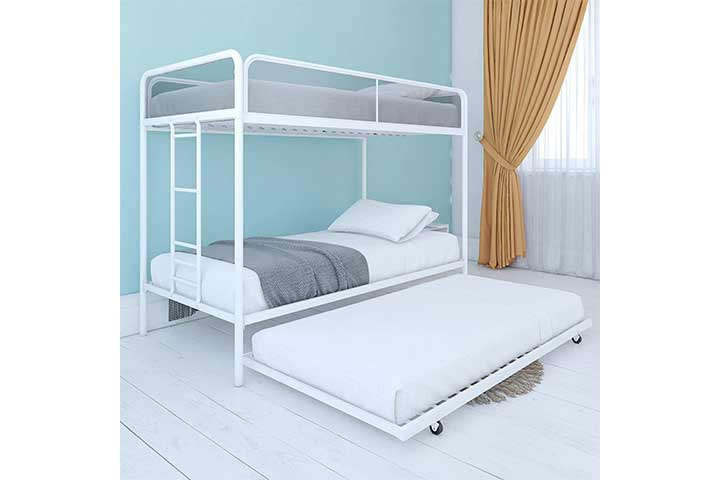 DHP Triple Metal Bunk Bed Frame