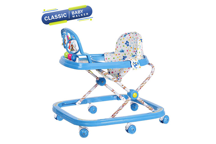 Dash Classic Baby Walker with Rattle and Hanging Toys