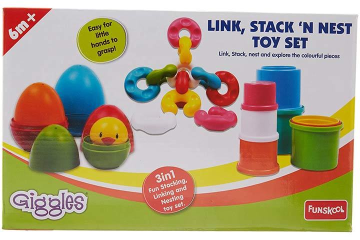 FunSchool Link, Stack and Nest Toy Set