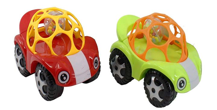 Ginkermain Die-Cast Rattle Play Plastic Self Push Play Racing Car