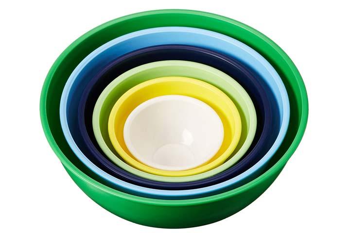 Home Gourmet Plastic Mixing Bowls