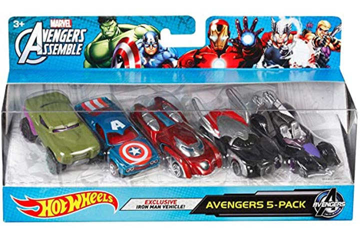 Hot Wheels Marvel Avengers Assemble 5-Pack