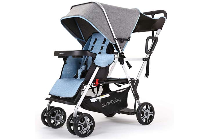 INBABY Double Stroller Lux Sit and Stand Baby Stroller