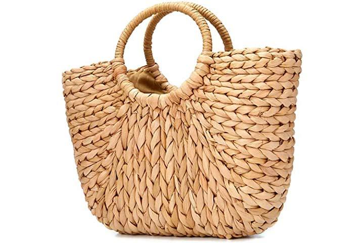 JOSEKO Summer Beach Bag, Women Straw Paper Handbag