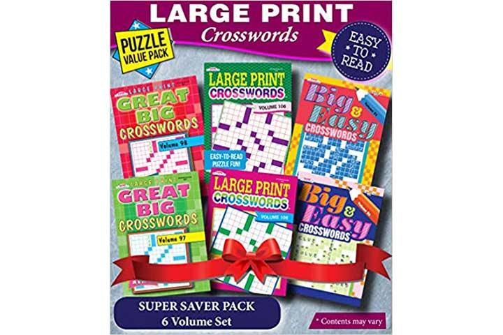KAPPA Super Saver Large Print Crosswords Pack