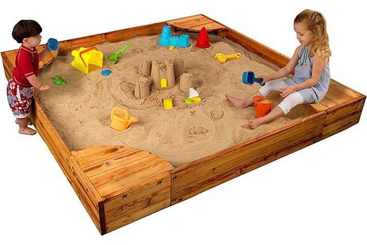 Kidcraft Wooden Backyard Sandbox