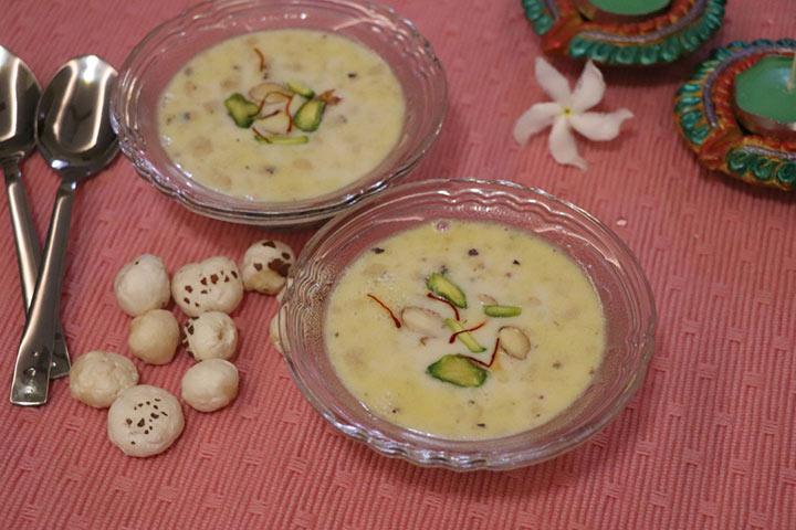 Makhana porridge or makhanakheer