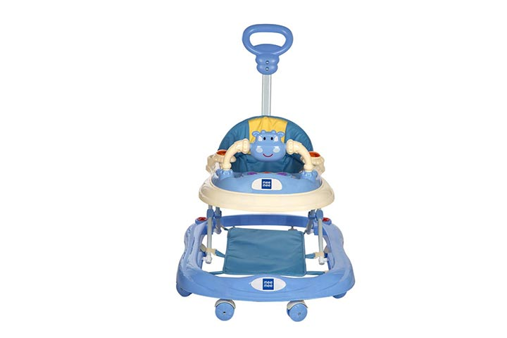 Mi me baby walker with adjustable height and push handle bar
