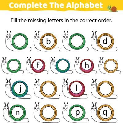 Missing Letters Alphabets Worksheets For Kindergarten MomJunction