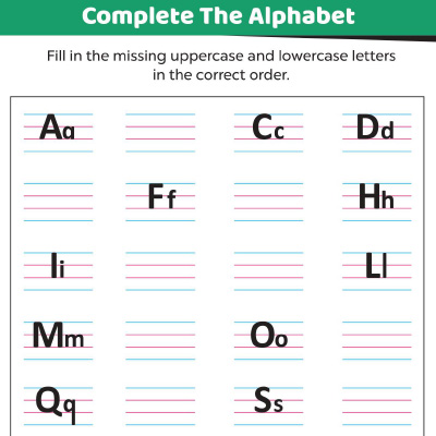 Fill In The Missing Uppercase And Lowercase Letters