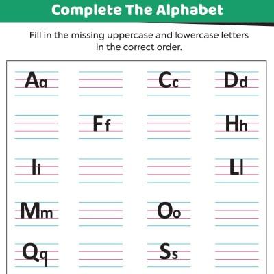 Missing Letters Alphabets Worksheets For Kids - Free & Printable  MomJunction