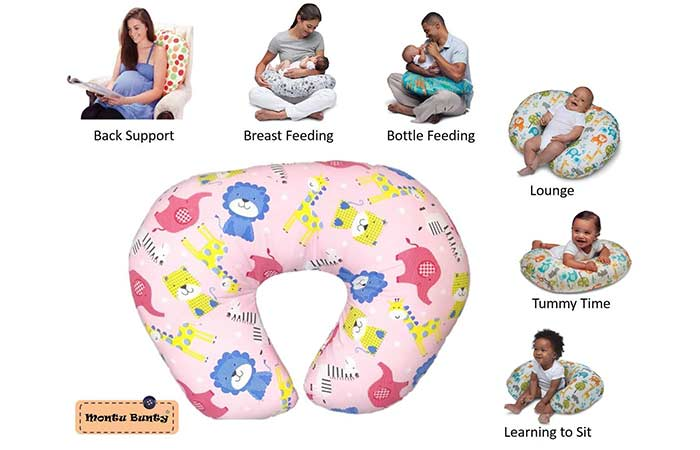 Montu Bunty Nursing Feeding Pillow