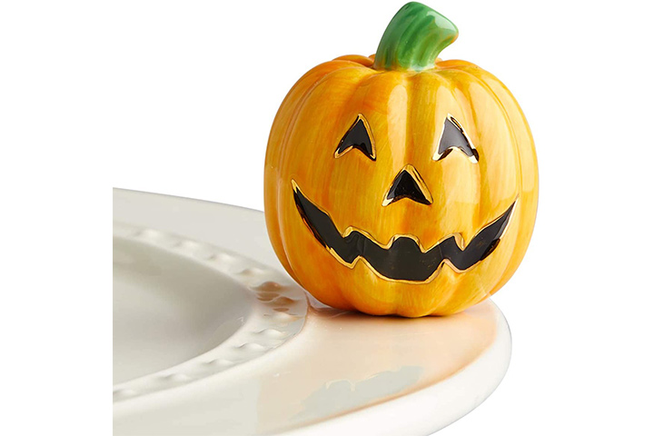 Normal Fleming Hand-painted Mini Carved Jack-O'-Lantern