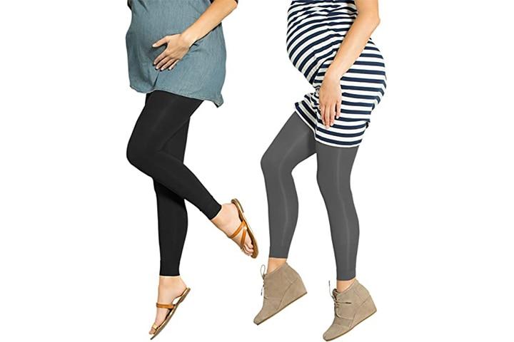 Preggers Footless Compression Maternity Leggings