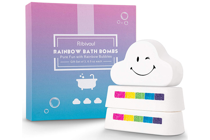 Ribivaul Rainbow Bath Bombs Gift Set