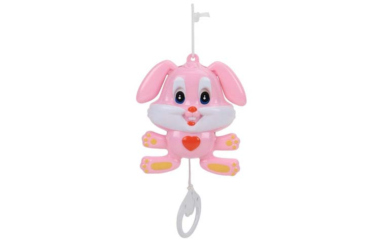 Sajni Cradle Hanger Bell Musical Dancing Rabbit