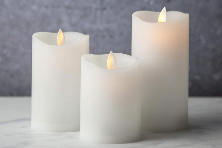 Sandstone and Sage LED Battery Operated Flameless Candles
