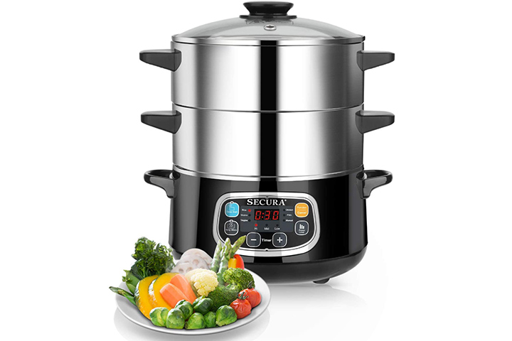 Secura Electric Stainless Steel Steamer