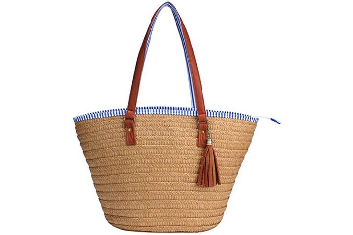 Sornean Straw Beach Bag Handbags Shoulder Bag Tote