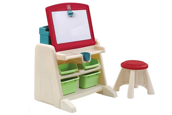 Step2 Flip And Doodle Desk With Stool