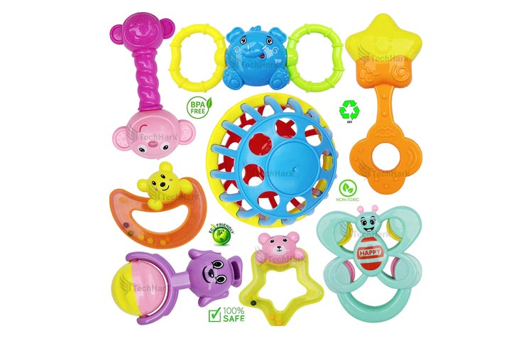 Takehark set of high quality rattles for baby