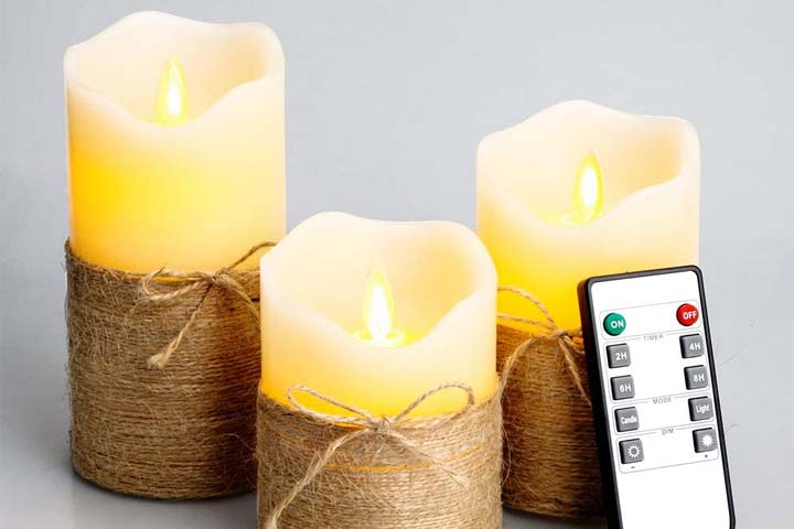 Tofu Flickering Flameless Candles