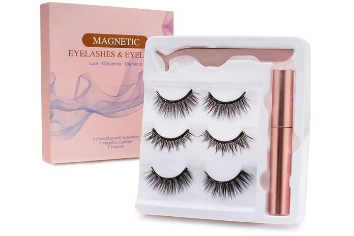 Vassoul Magnetic Eyelashes And Magnetic Eyeliner Kit