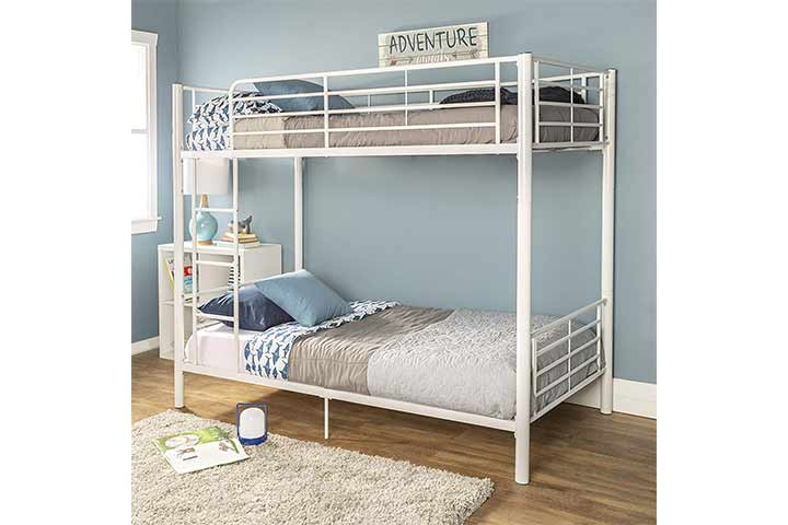 Walker Edison Furniture Company Metal Pipe Twin Bunk Beds