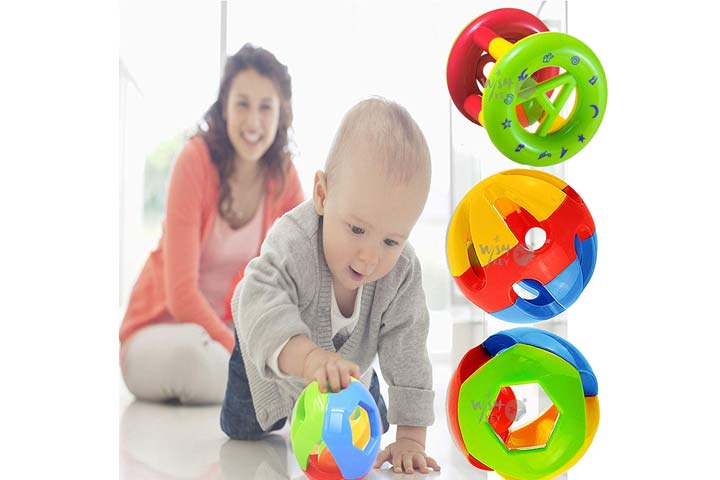 Wishki Kids Non-Toxic, Shake and Grab Ball