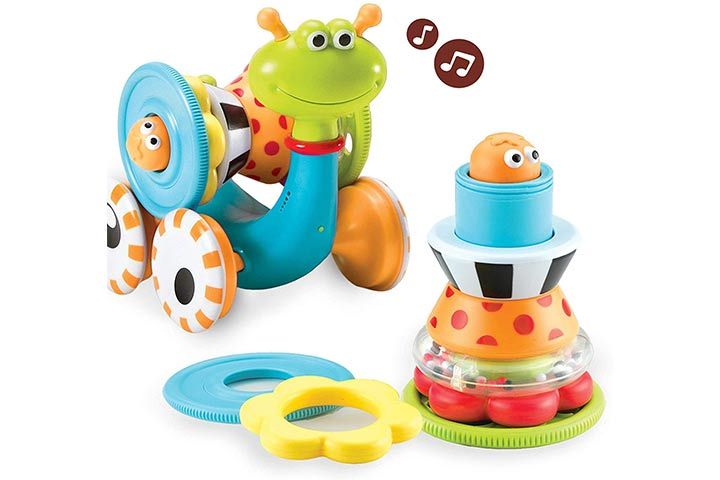 Yookidoo Musical Crawl N' Go Snail Toy with Stacker