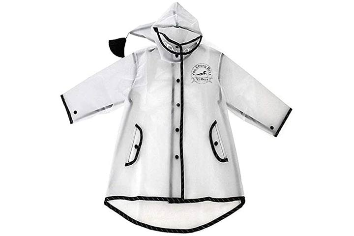 YouChangBest Clear Rain Poncho Jacket