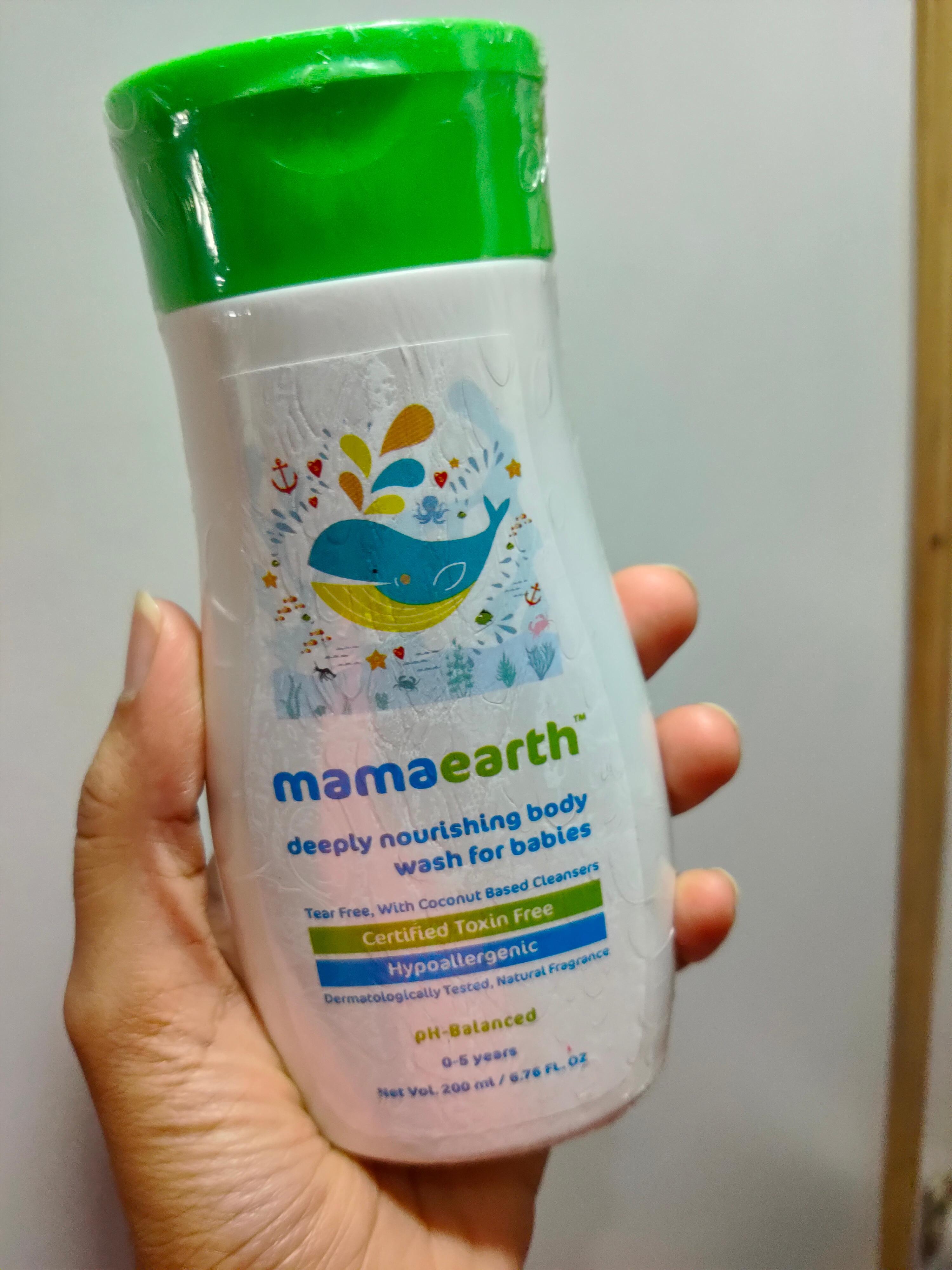 Mamaearth Deeply nourishing wash for babies-Mild for skin-By madaanritu