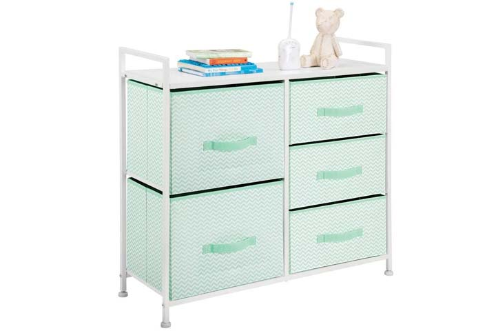 mDesign Wide Dresser Storage Tower Furniture