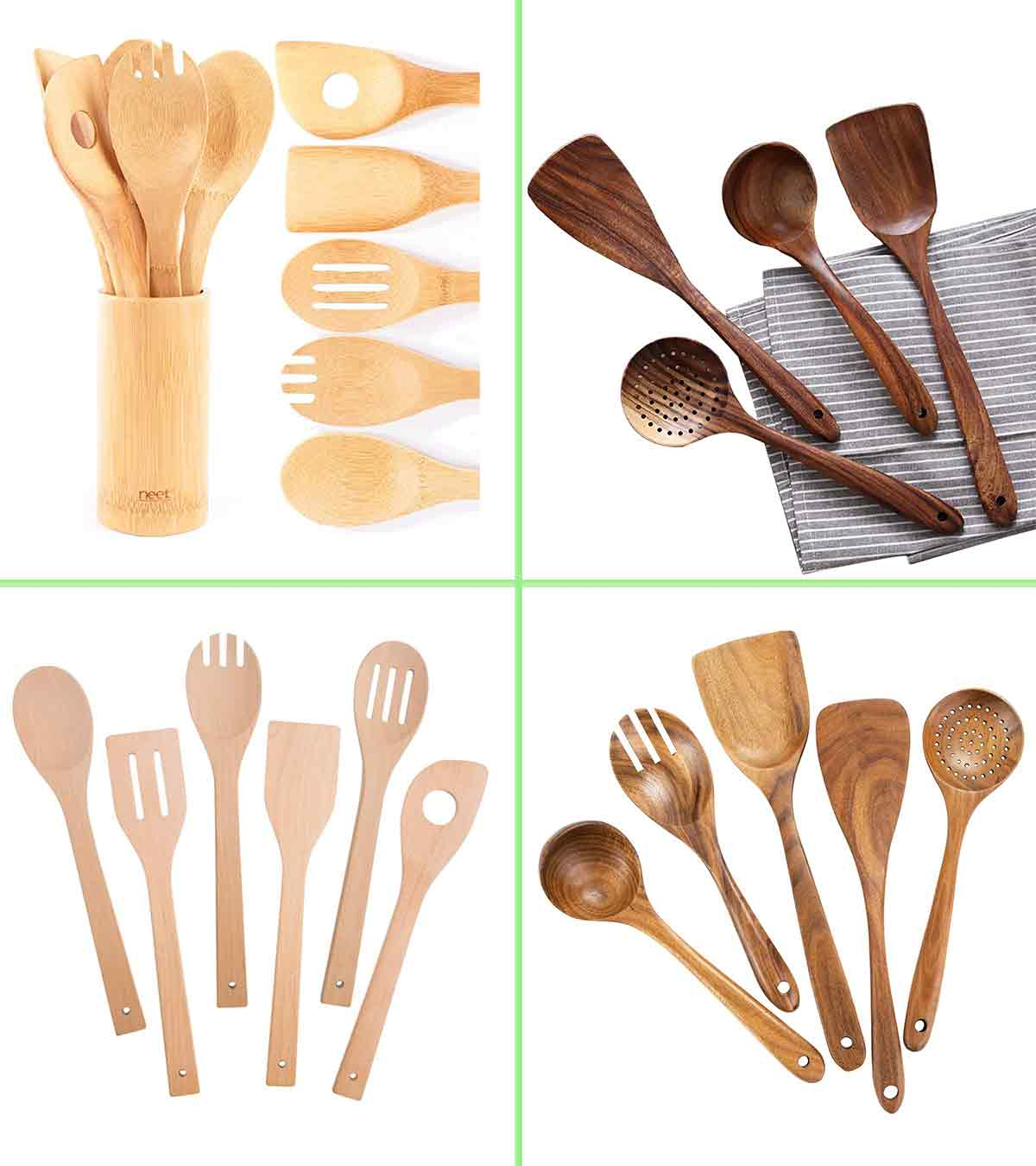 ccHuDE 6 Pcs Mini Wooden Scoops Small Bath Salts Spoon Candy Spoon for Spices Tea Coffee Beans