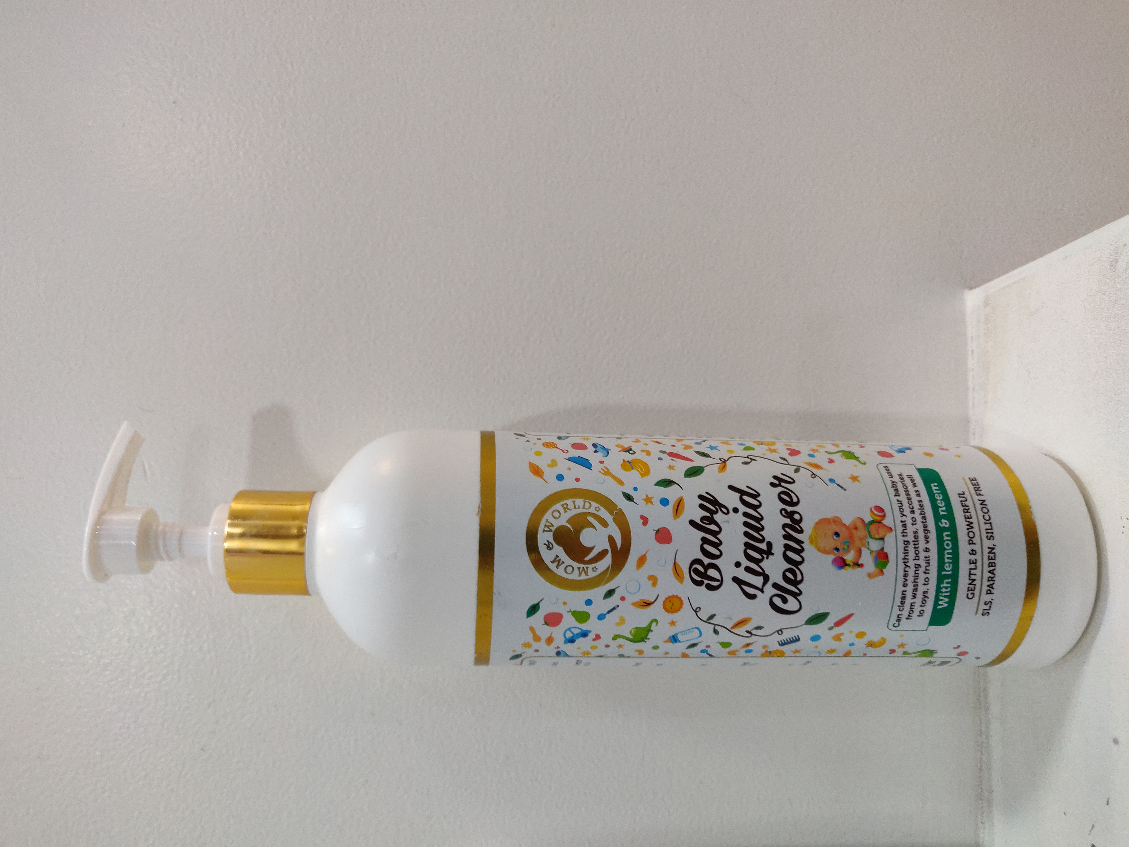 Mom & World Baby Anti Bacterial Liquid Cleanser-Multi purpose cleaner for everything your baby uses practically-By apoorva_bhandari