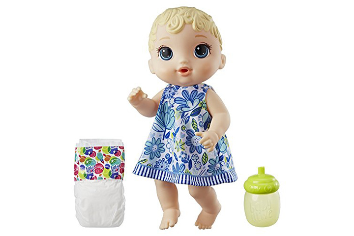 Alive Lil' Sips Baby Blonde Hair Doll
