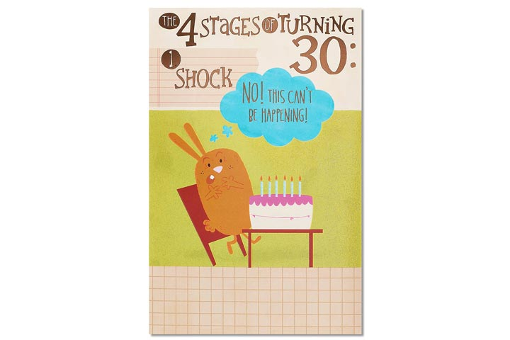 American Greetings Funny 30th Birthday Card