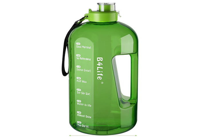 B4Life 1 Gallon Water Bottle with Time Marker
