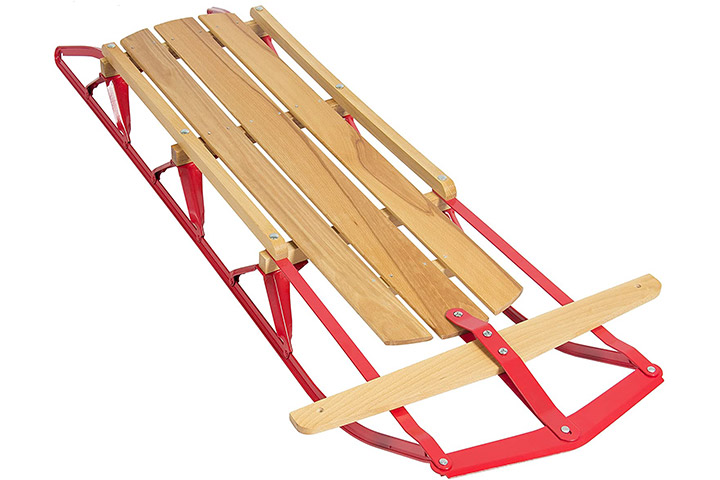 Best Choice Products Wooden Snow Sled