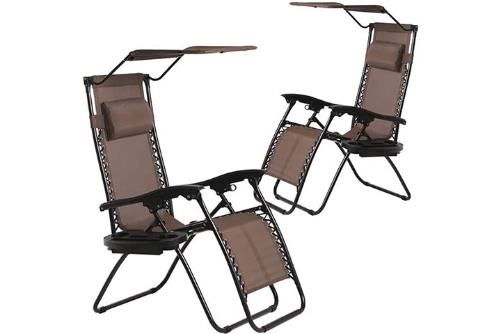 BestMassage Zero Gravity Patio Chair