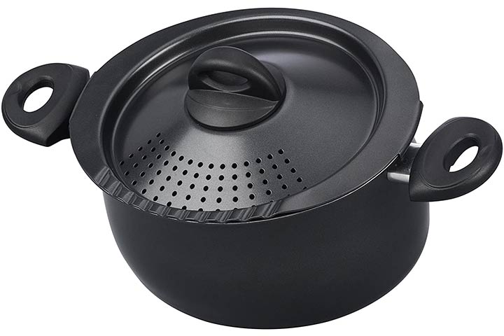 Bialetti 07265 Oval Pasta Pot with Strainer Lid